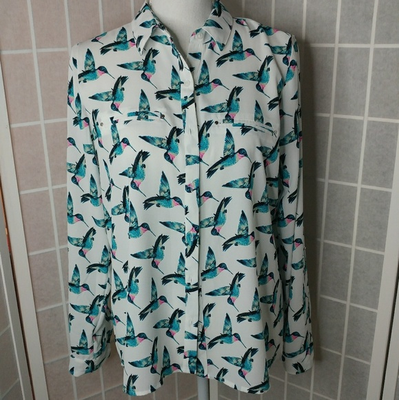 0747043c73e Apt. 9 Tops -  Apt 9  Hummingbird button up